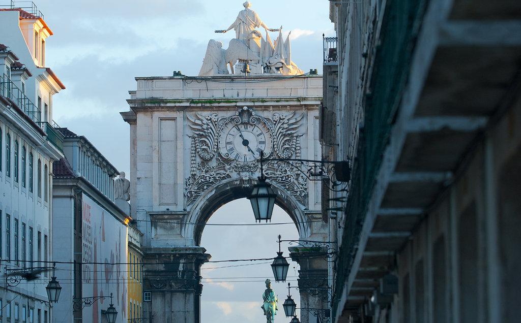 Triumphbogen & Praça do Comércio